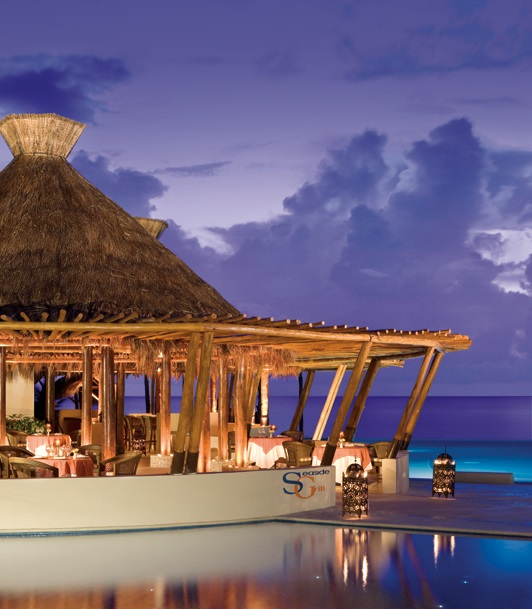 DRERC_POOL-AT-DUSK1_1 Featured Resort of the Week: Dreams Riviera Cancun Resort & Spa