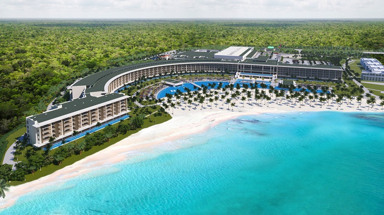 Aerial view of Barcelo Maya Riviera in Mexico