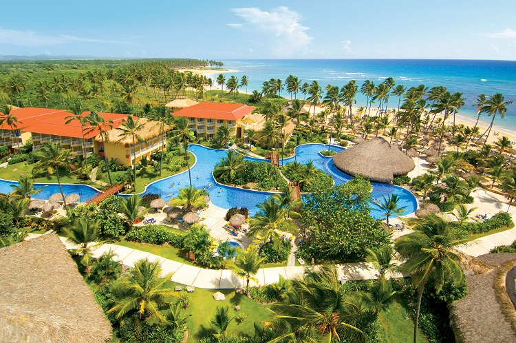 Resort view of Dreams Punta Cana Resort & Spa in the Dominican Republic