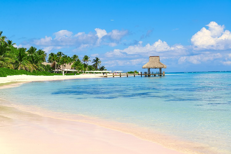 White-sand beach in Punta Cana